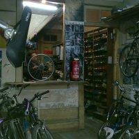serviço a pedal e de saúde