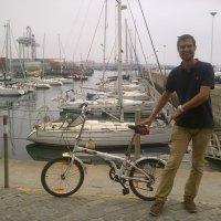 uma Nordic Bike que sabe velejar