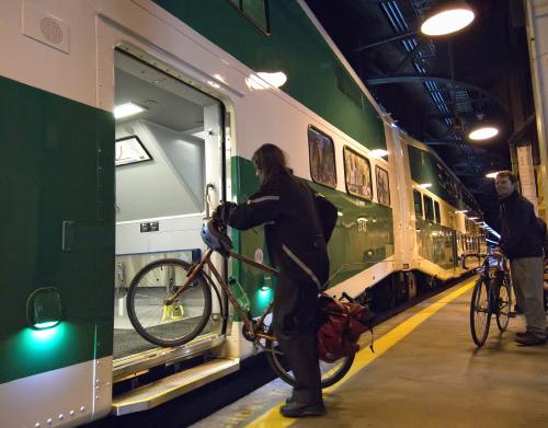 Enhancing bike capacity on regional transit systems would encourage suburban bike usage for commutes