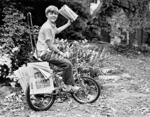 DELIVERY NEWSBOY ON BICYCLE