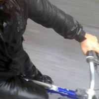 mais um dia de bicicleta para o trabalho