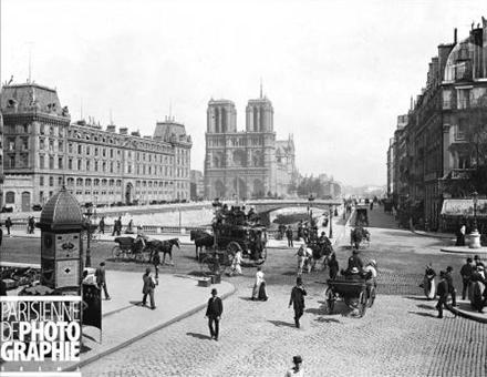 Figura 1 - Uso do cavalo como meio de transporte em Paris. Fonte: http://www.parisenimages.fr/fr/popup-photo.html?photo=211-11