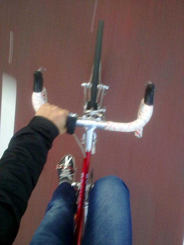 pedal numa manhã gelada