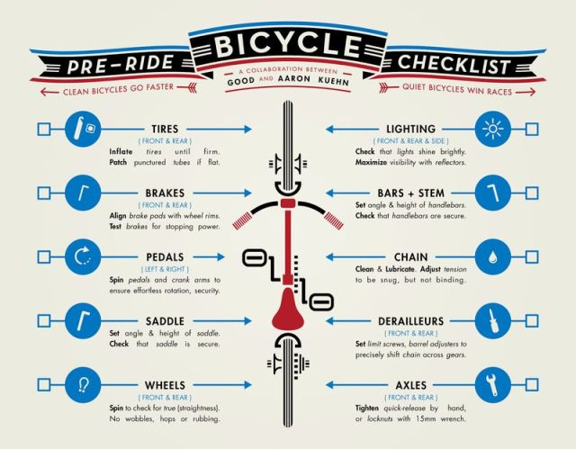 pre-ride bicycle checklist