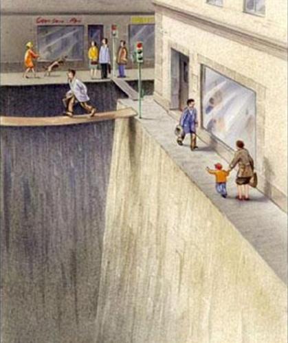 Figura 2 - O que a velocidade faz com as ruas. Fonte: http://goo.gl/ETwXjA