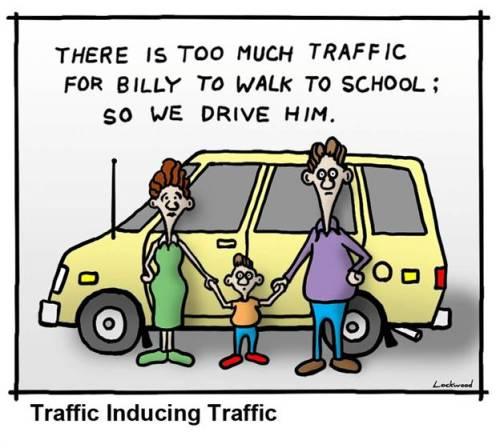 Figura 1- Tráfego induzindo tráfego. Fonte: http://www.planetizen.com/node/56017