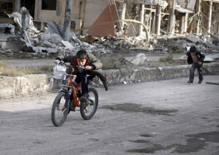 Siria, la fuga em bici