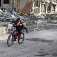 """fotocycle [112] """"Siria, la fuga in bici per portare viveri alla famiglia"""""""