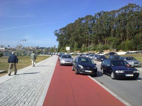 Figura 8 - Aqui estaciona-se bem! Fonte: https://nabicicleta.com/2012/07/02/rodovias-e-romarias-ciclovias-querias/