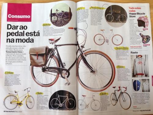 artigo da TimeOut Porto de março de 2014, foto: biclanoporto.org