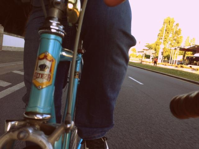 a pedalar do trabalho