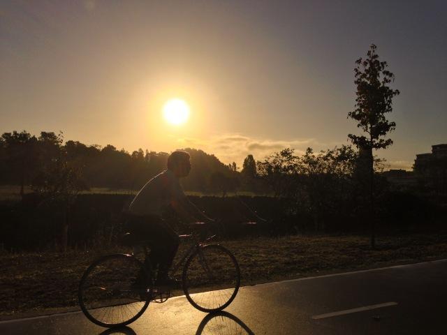 a pedalar para o trabalho